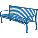 "48"" Bench Straight Top Ribbed Style - Blue"