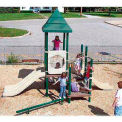 Preschool Playground in Green, Tan and Brown