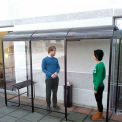 No Butts Smoking Shelters Back To Wall 3 Sided 7'X7'