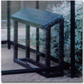 "Perch Seat BH01 for No Butts Smoking Shelters 40""W x 12""D x 32""H - Black"