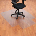 "46""W x 60""L Chair Mat w/ 25"" x 12"" Lip for Hard Floor"