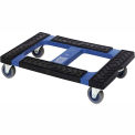 "Quantum Plastic Container Dolly DLY3018 With Padded Rubber Ledge 22-3/8""L X 16""W"