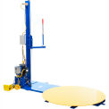 Stretch wrap machine with power mast