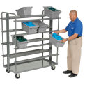 Akro Mils Double Sided Cross Stack Tub Cart