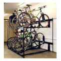 Bike Fixation Non-Lockable Two Tier 8 Bike Storage Rack