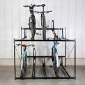 "10 Bike Rack Double Decker 72""W X 63""D"