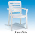 Grosfillex® Stacking Dining Outdoor Armchair Woodgrained - Green (Sold in Pk. Qty 4) - Pkg Qty 4