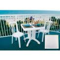 "Grosfillex® Vega 32"" Square Outdoor Folding Tables White (Bulk Rate) - Pkg Qty 12"