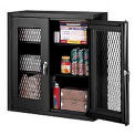Expanded Metal Wall Mount Cabinet 36x12x30 - BLACK