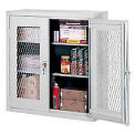 Expanded Metal Wall Mount Cabinet 36x12x30 - Light Gray