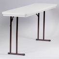 Portable Folding Table 18 x 72 - Gray Granite
