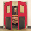 "5'0"" x 7'0"" Twin Panel Heavy Duty Red Impact Door"