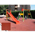 "Playground Safety Tile - Terracotta 19-1/2"" Sq."