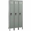 Hallowell U3818-1HG Premium Locker Single Tier 18x21x72 3 Door Ready To Assemble Gray