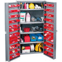 Bin Cabinet Assembled With 96 Door Bins 38 Inch Wide