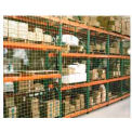 "Pallet Rack Netting One Bay, 123""W x 120""H, 1-3/4"" Sq. Mesh, 1250 lb Rating"