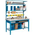 "60""W x 24""D Packaging Workbench - Plastic Laminate Square Edge  - Blue"