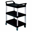 Rubbermaid Three-Shelf Utility Cart Black
