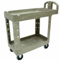 Rubbermaid Heavy-Duty Tray Shelf Service & Utility Cart Beige 39 x 18