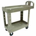 Rubbermaid Heavy-Duty Flat Shelf Utility Cart Beige 39 x 17