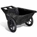 Rubbermaid Big Wheel Utility Cart Black