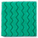 Rubbermaid® HYGEN Microfiber Cleaning Cloths - Green