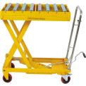 "Mobile Scissor Lift with 32-1/2"" X 19-1/2"" Conveyor Table Top 770 Lb Capacity"