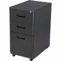 3 Drawer Pedestal Box/Box/File - Charcoal