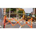 Multi-Gate Expandable Portable Barricade, Orange & White