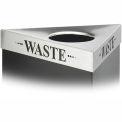 Triangular Lid - Waste