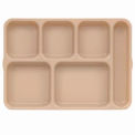 Tray 6Comp Cr Cp Deep - Tan