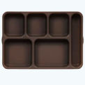 Tray 6Comp Cr Cp Deep - Brown