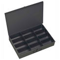 Durham Steel Scoop Compartment Box 115-95 - 12 Compartments - Pkg Qty 4