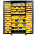 "Jamco Bin Cabinet GS236KE - 14 Gauge Welded with 136 Bins Deep Door, 36""W x 24""D x 78""H"