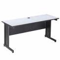 "Interion™ 60"" Desk Gray"
