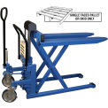 Bishamon Foot Operated High Lift Skid Truck 2200 Lb. Cap. 20.5 x 42.5 Forks