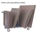 "Cardboard Carton Truck Single Level 60 x 24 8"" Pneumatic Casters"