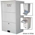 Wall Mount X-Large Letter Locker Mailbox Gray