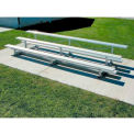 3 Row Aluminum Bleacher, 7-1/2' Wide, Single Footboard