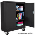 "Mobile Radius Edge Storage Cabinet - Black, 36""W x 24""D x 36""H"