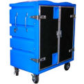 34 Cu. Ft. Blue Plastic Security Transfer Truck 950 Lb. Capacity
