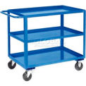 Jamco Blue All Welded 3 Shelf Stock Cart SC124 24x18 1200 Lb. Cap.