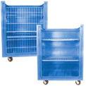 Dandux Blue Plastic Turn Around Truck with Convertible Shelves 511461U 38 Cu. Ft.