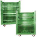Green Plastic Turn Around Truck with Convertible Shelves 48 Cu. Ft.