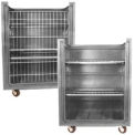 Gray Plastic Turn Around Truck with Convertible Shelves 48 Cu. Ft.
