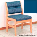 Guest Chair w/o Arms - Light Oak/Blue Vinyl