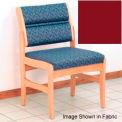 Guest Chair w/o Arms - Light Oak/Burgundy Vinyl
