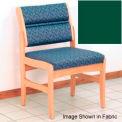 Guest Chair w/o Arms - Light Oak/Green Vinyl