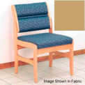 Guest Chair w/o Arms - Light Oak/Cream Vinyl