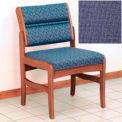 Guest Chair w/o Arms - Medium Oak/Blue Fabric